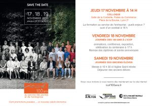 invitation au centenaire de l'ICOF