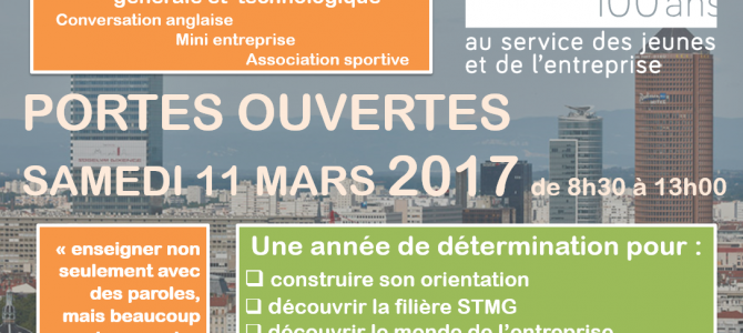 Journée portes ouvertes 2017 – ouverture seconde générale et technologique