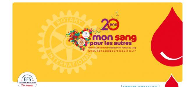 20ème anniversaire de la collecte «Mon sang pour les autres»