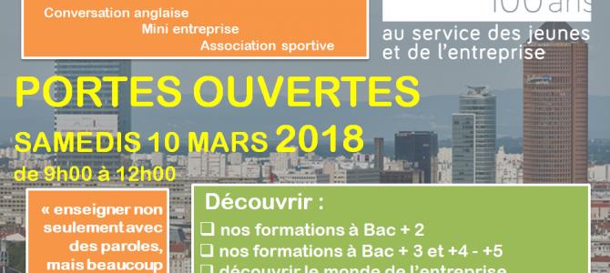 Portes Ouvertes de l'ICOF samedi 10 mars
